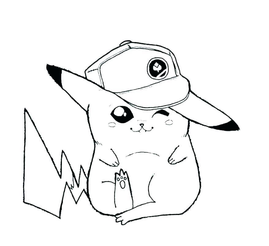 Hình tranh vẽ Pokemon dành cho bé tập tô