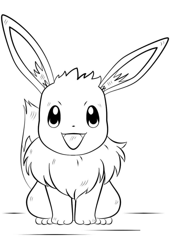 Hình vẽ pokemon tranh tô màu đẹp cho bé