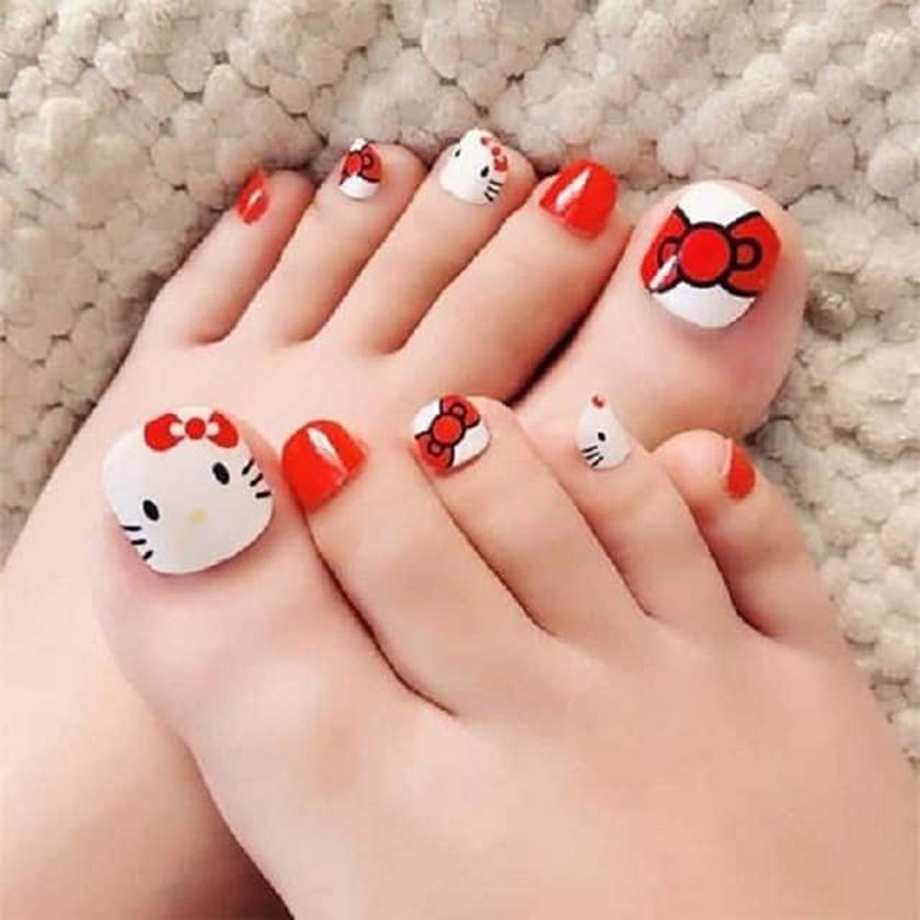 Mẫu móng chân dễ thương nhất