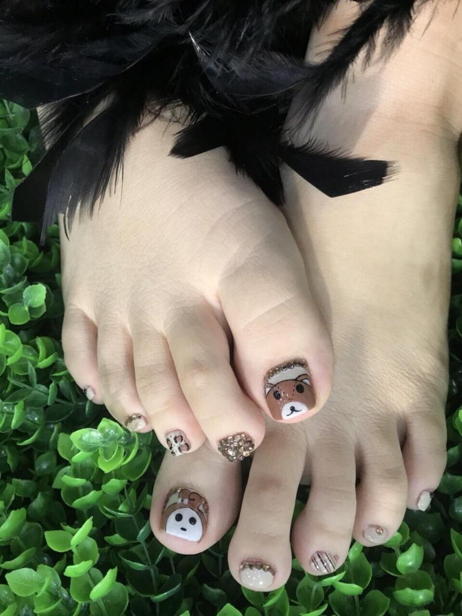 Mẫu móng chân đẹp dễ thương