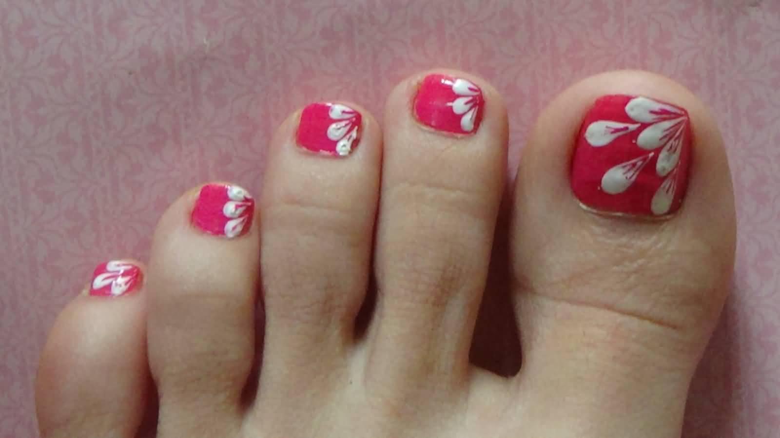 Mẫu móng chân hoa nghệ thuật đẹp