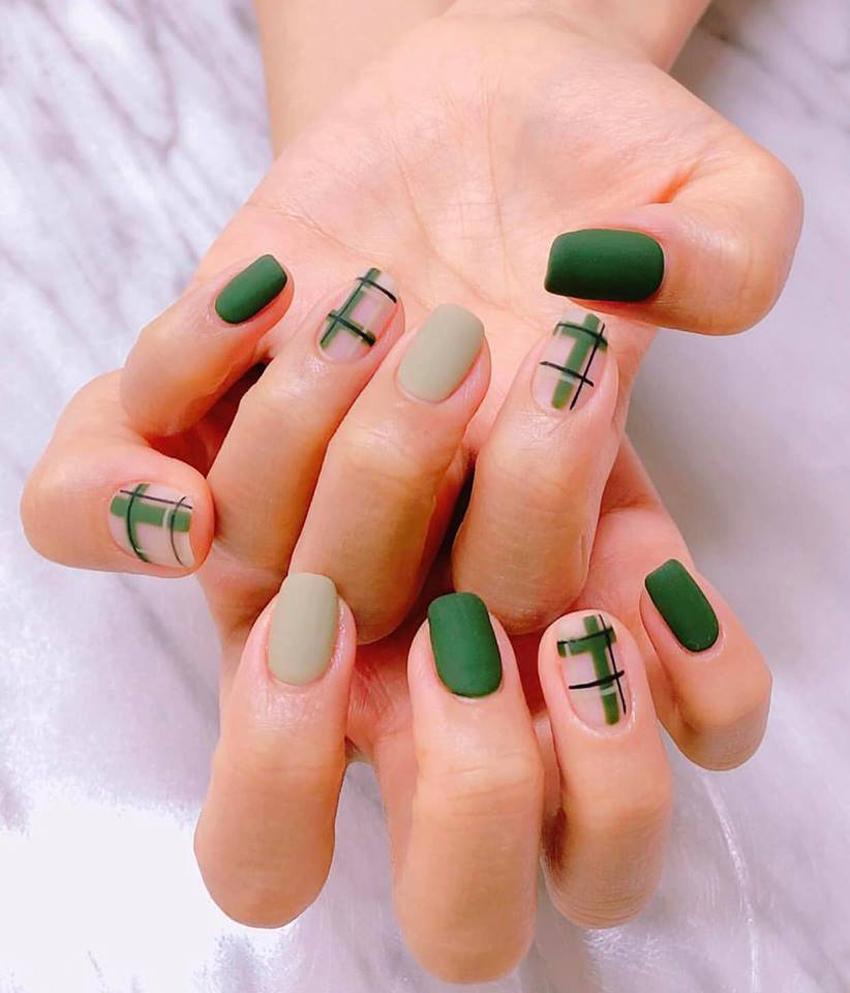 Mẫu nail đắp bột đẹp đơn giản nhât
