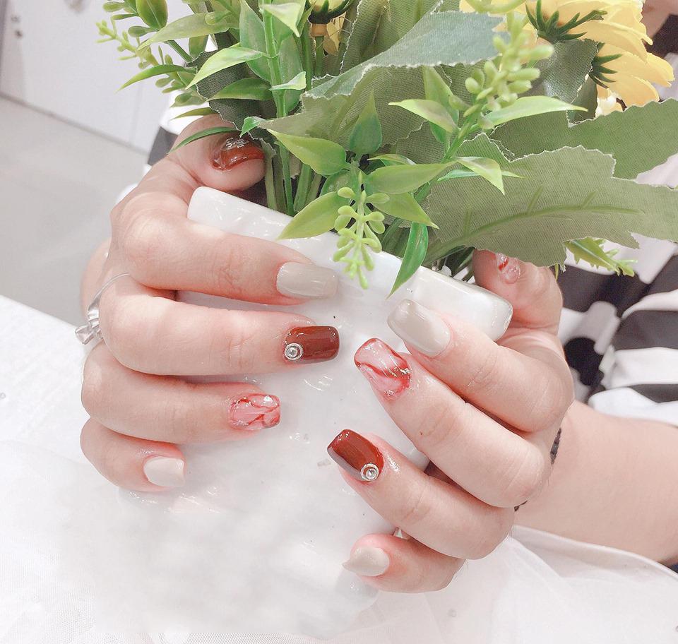 Mẫu nail đẹp Hàn Quốc