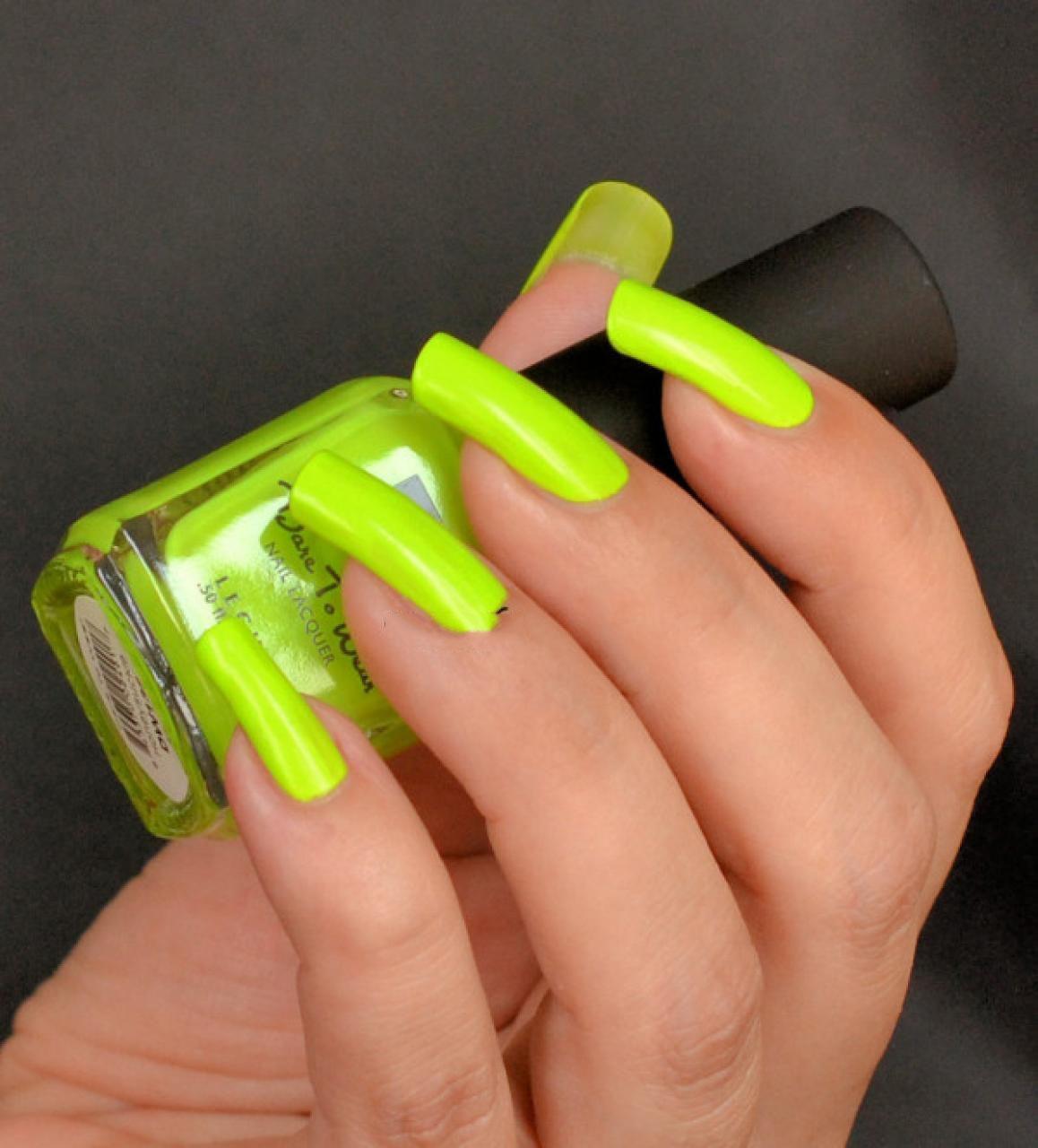 Mẫu nail móng tay màu neon đẹp nhất