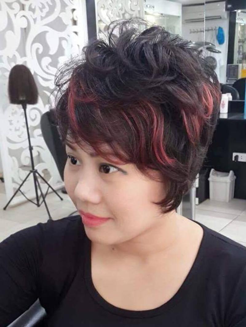 Mẫu tóc tém light đỏ đẹp nhất cho nữ