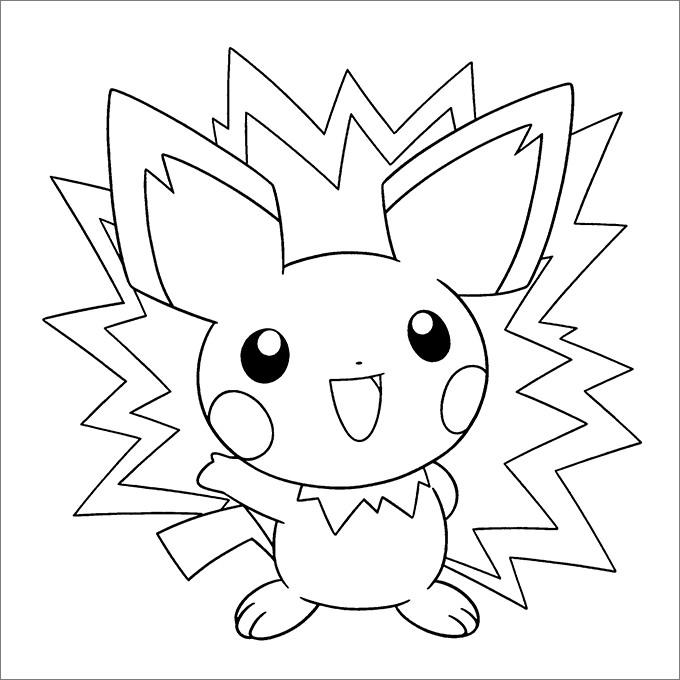 Mẫu tranh Pokemon cho bé tô màu