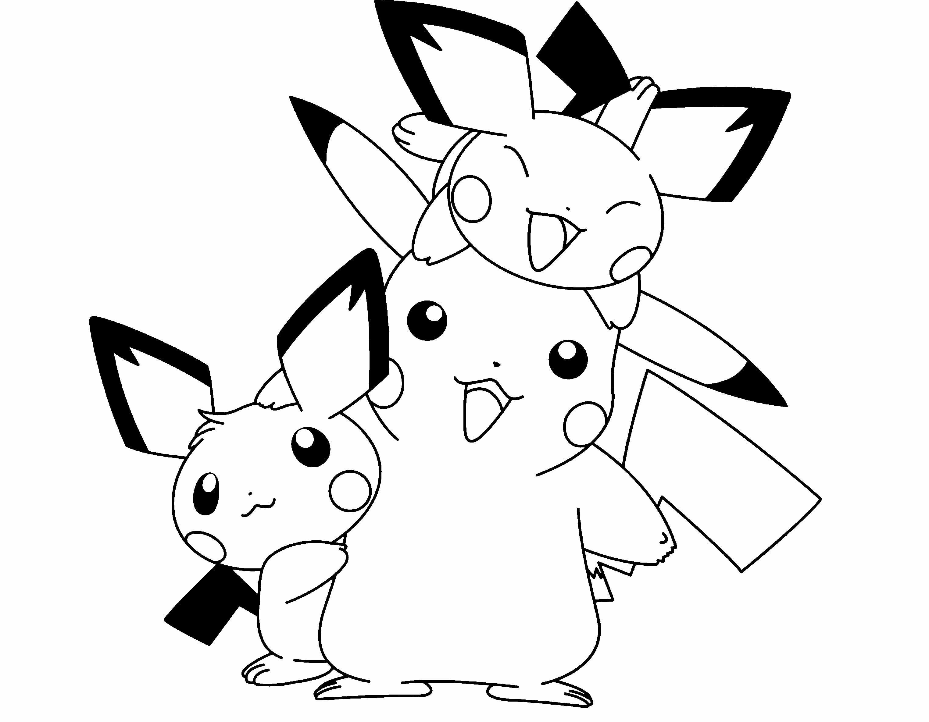 Mẫu tranh pokemon tô màu cho bé