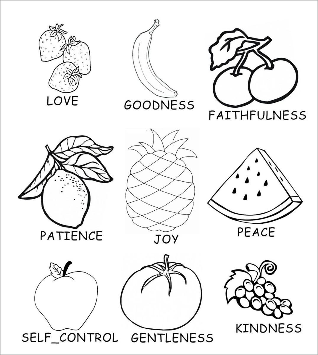Mẫu tranh tô màu các loại hoa quả