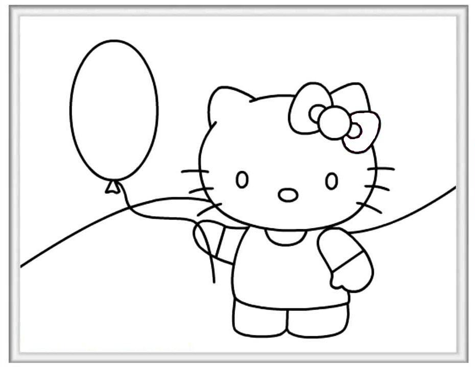 Mẫu tranh tô màu cho bé Hello Kitty đẹp và dễ thương nhất