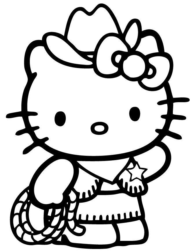 Mẫu tranh tô màu diễn viên xiếc tài ba Hello Kitty đẹp nhất