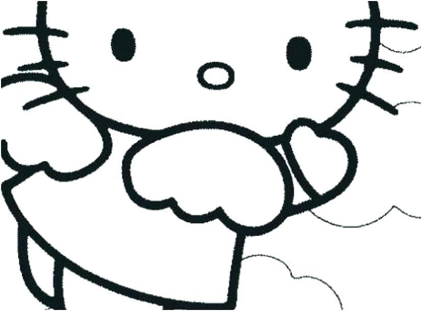 Mẫu tranh tô màu Hello Kitty cho bé đẹp nhất