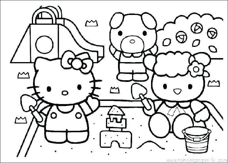 Mẫu tranh tô màu Hello Kitty dành cho bé đẹp nhất