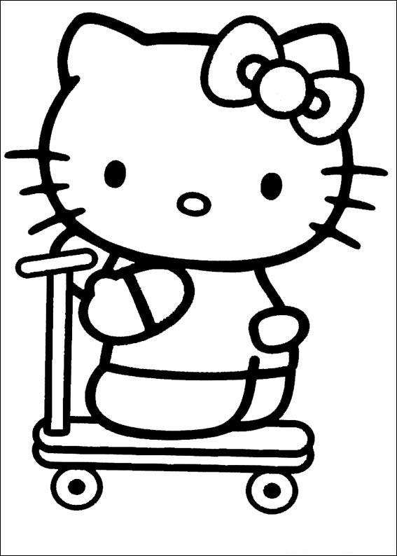 Mẫu tranh tô màu Hello Kitty dễ thương và đẹp nhất