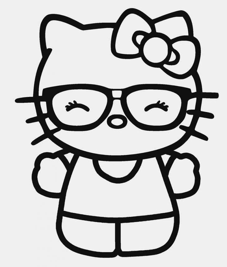 Mẫu tranh tô màu Hello Kitty dễ thương