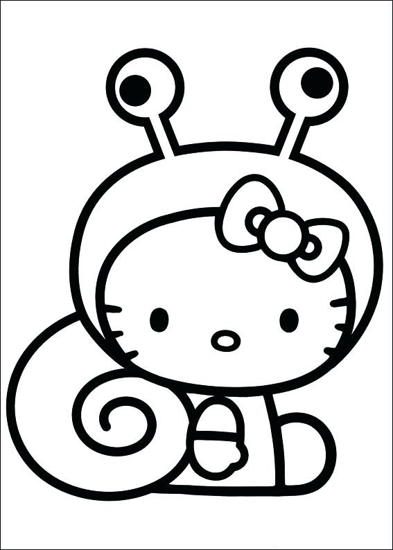 Mẫu tranh tô màu Hello Kitty đẹp