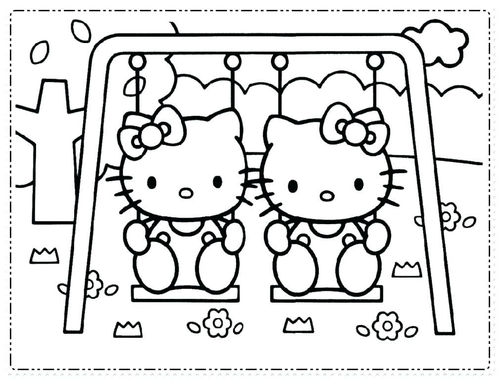 Mẫu tranh tô màu Hello Kitty hình ảnh đẹp nhất