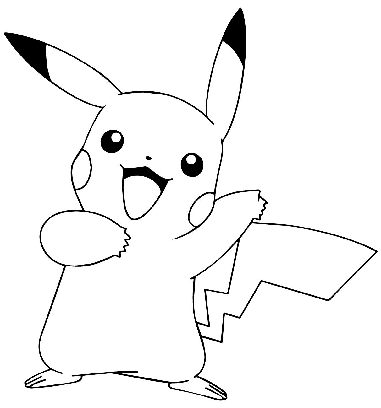 Mẫu tranh tô màu hình Pokemon đáng yêu nhất