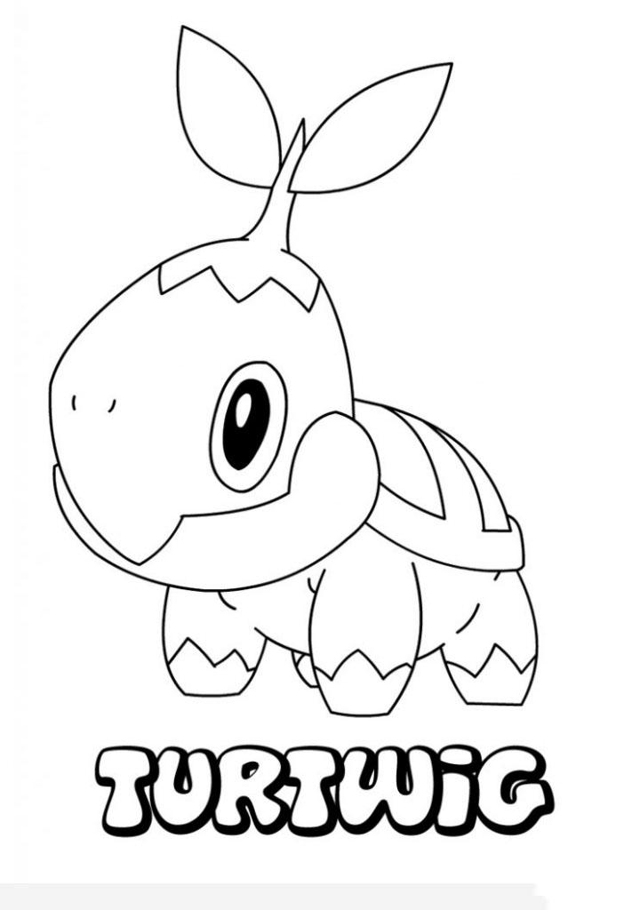 Mẫu tranh tô màu nhân vật Pokemon