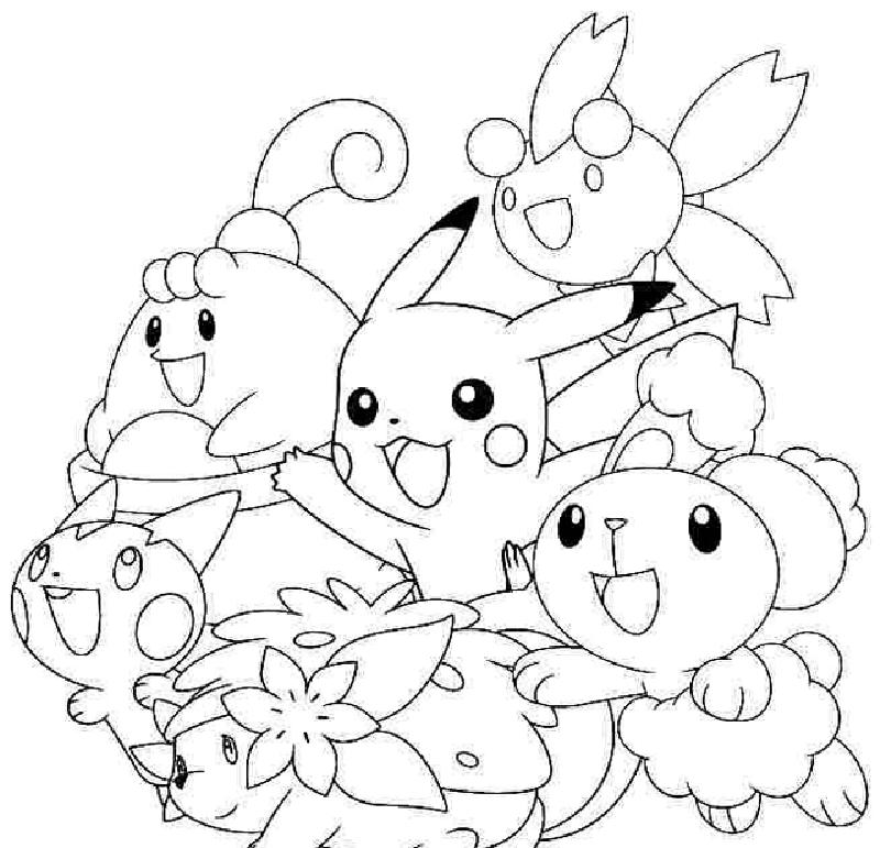 Mẫu tranh tô màu Pokemon cho bé đáng yêu nhất