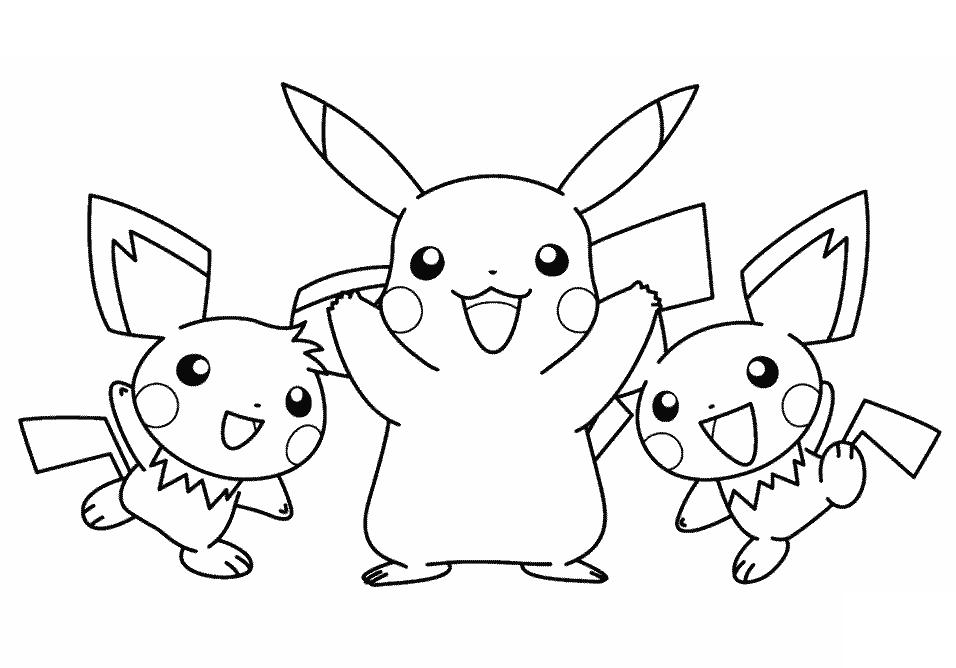 Mẫu tranh tô màu pokemon cho bé đẹp nhất
