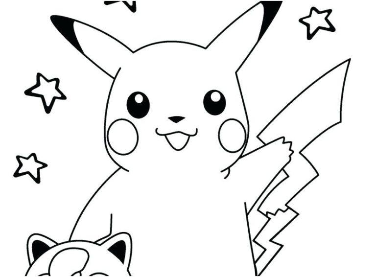 Mẫu tranh tô màu Pokemon đáng yêu nhất cho bé