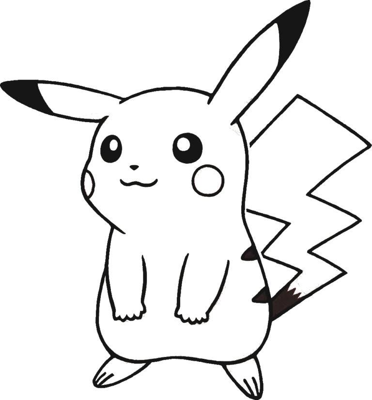 Mẫu tranh tô màu Pokemon đáng yêu nhất