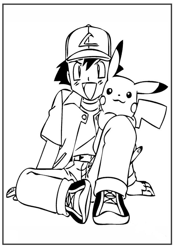 Mẫu tranh tô màu Pokemon dễ thương nhất