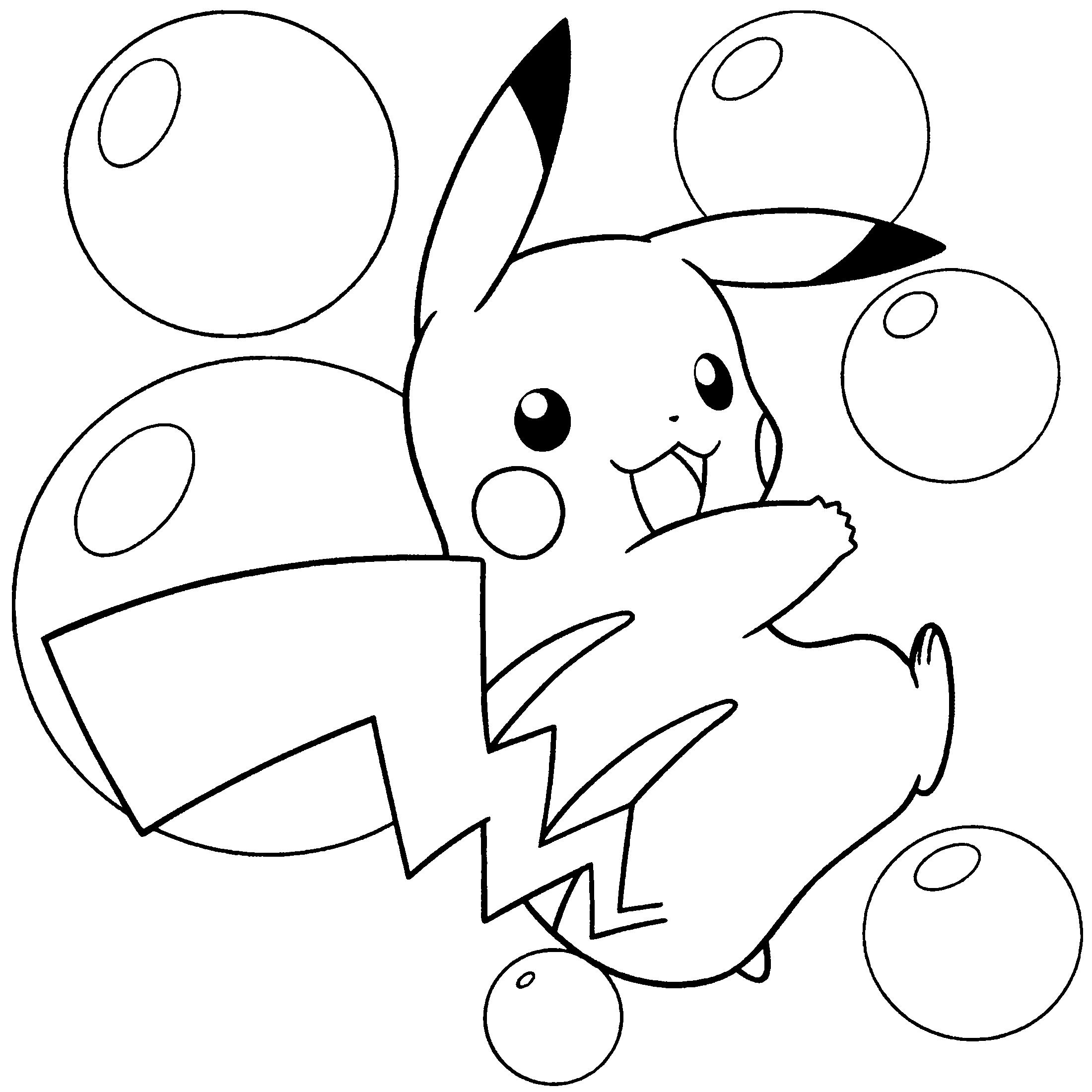 Mẫu tranh tô màu pokemon đẹp nhất cho bé