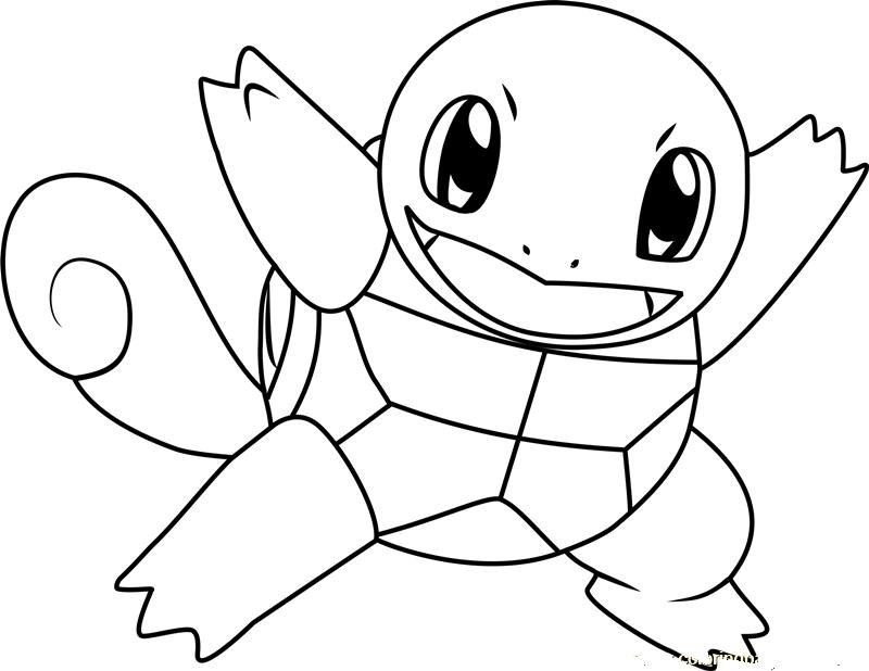 Mẫu tranh tô màu pokemon go đẹp