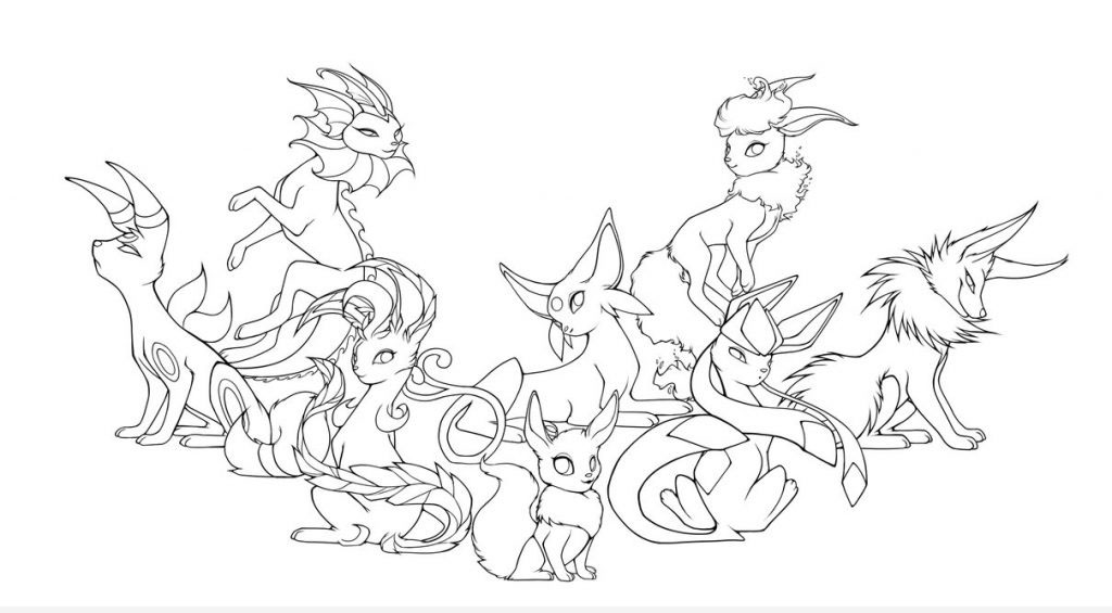 Mẫu tranh tô màu Pokemon tiến hóa