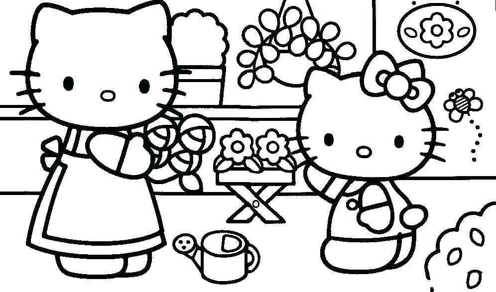 Mẫu tranh vẽ tô màu cho bé hello Kitty