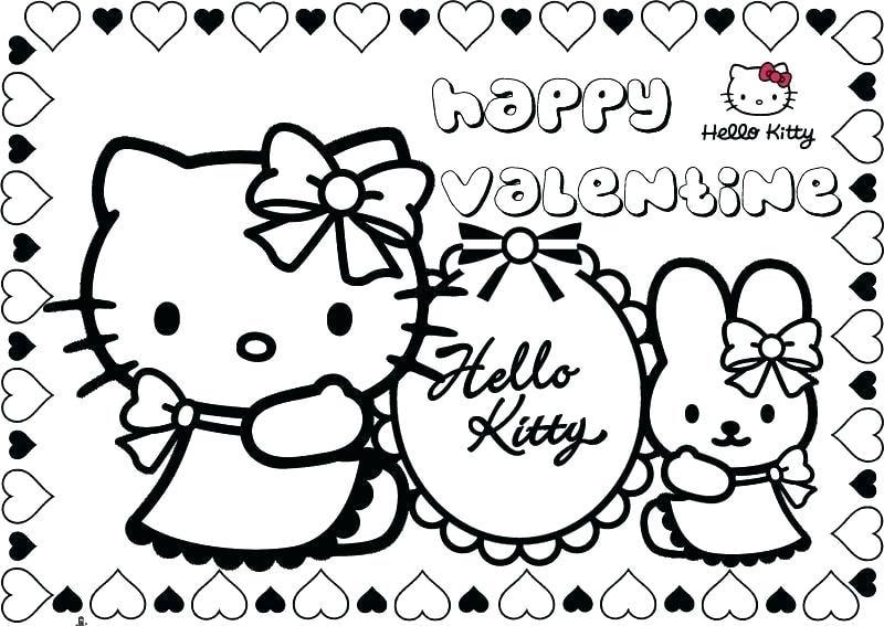 Mẫu tranh vẽ tô màu Hello Kitty đẹp
