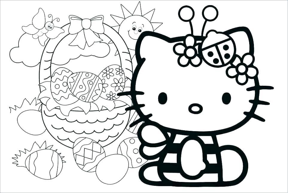 Mẫu vẽ tranh tô mà Hello kitty và ông già tuyết đẹp nhất