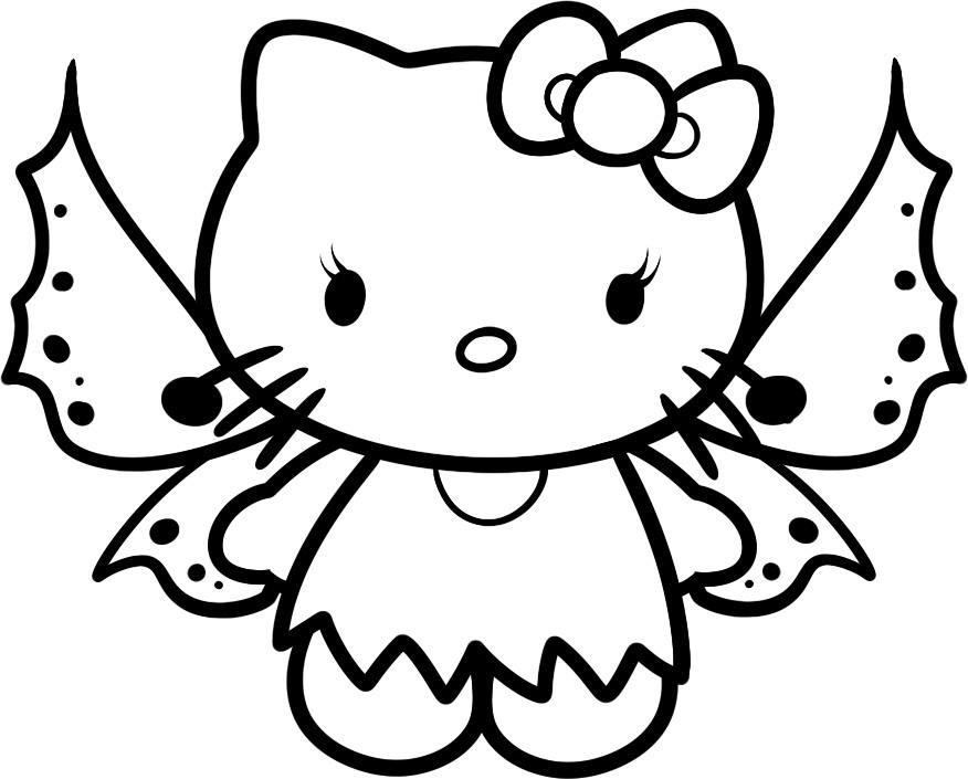 Mèo hello kitty mẫu tranh cho bé tập tô đẹp nhất