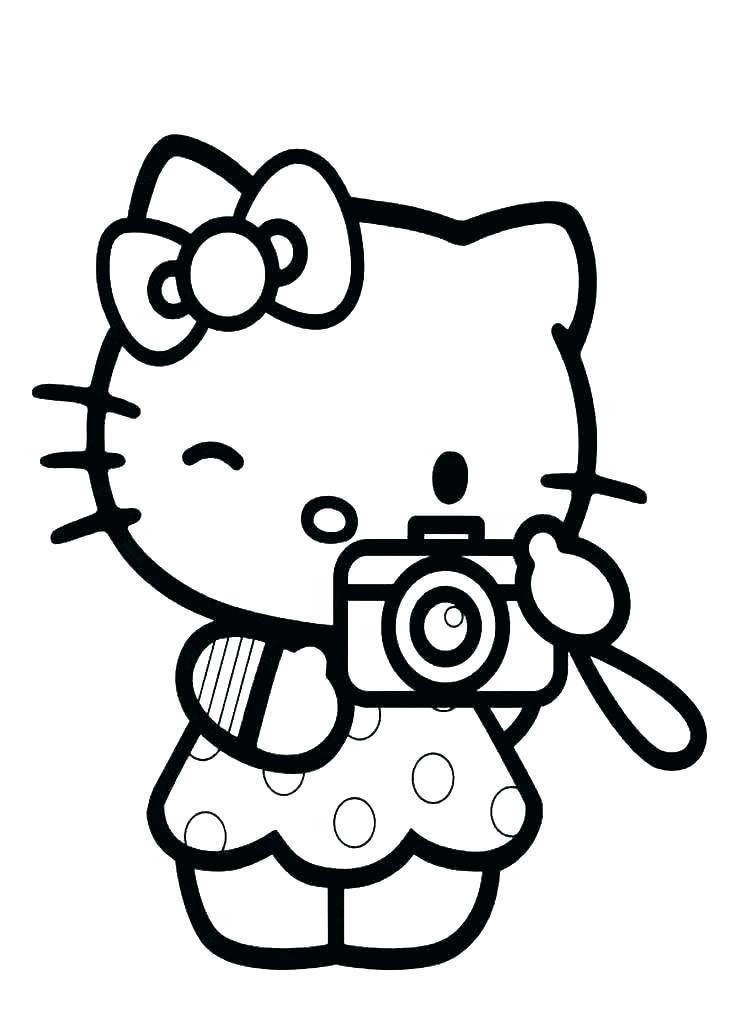 Những hình ảnh tranh tô màu hello kitty đẹp và ấn tượng nhất