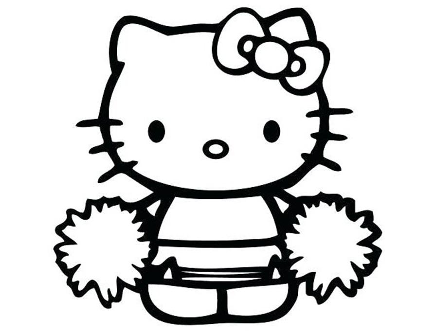 Những mẫu tranh tô màu Hello Kitty đẹp siêu cool dành cho các bé