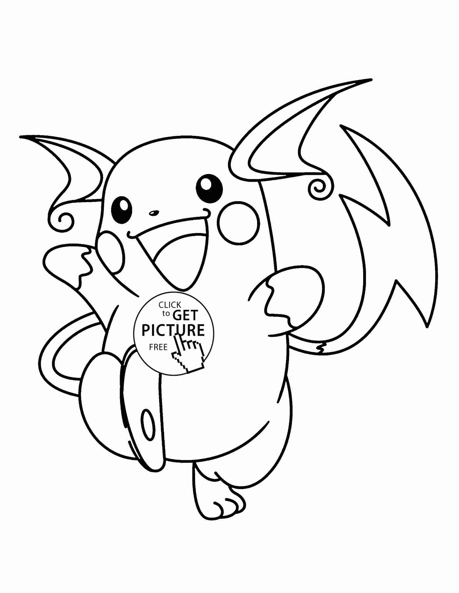 Những mẫu tranh tô màu Pokemon cho bé