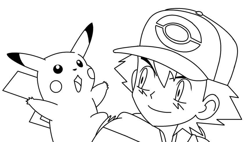 Pokemon mẫu tranh tô màu đẹp