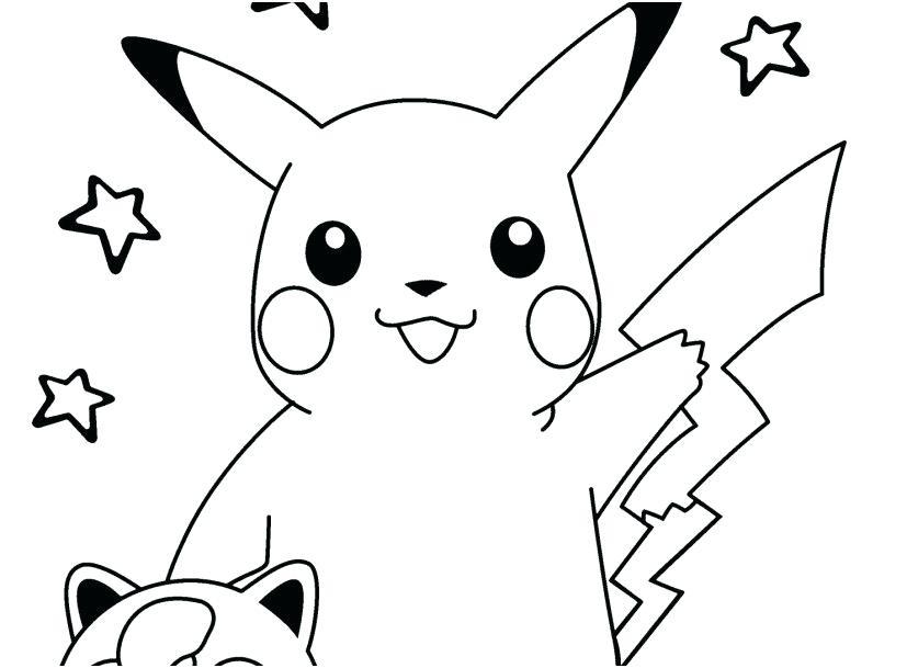 Pokemon tranh tô màu cho bé