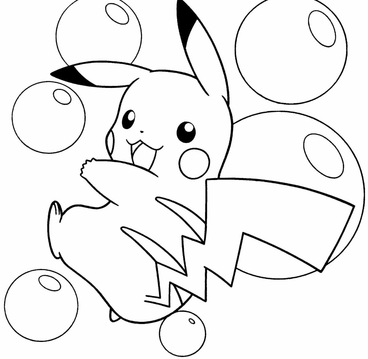 Pokemon tranh tô màu đẹp nhất cho bé tập tô