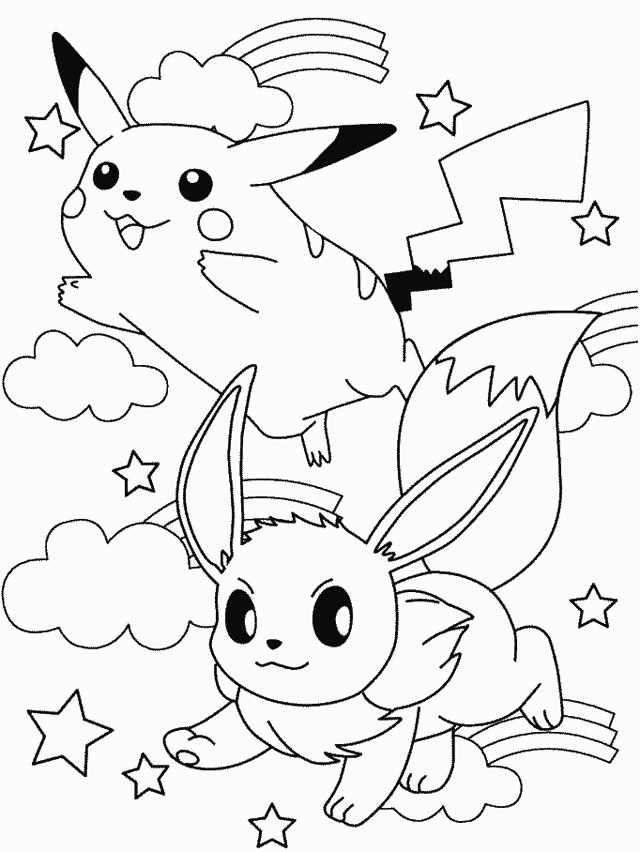 Pokemon tranh tô màu đẹp và dễ thương cho bé