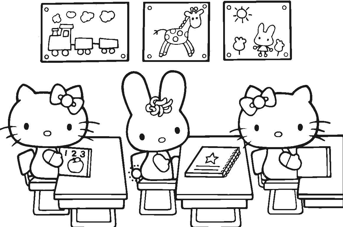 Tô màu tranh Hello Kitty mẫu vẽ đẹp dành cho bé