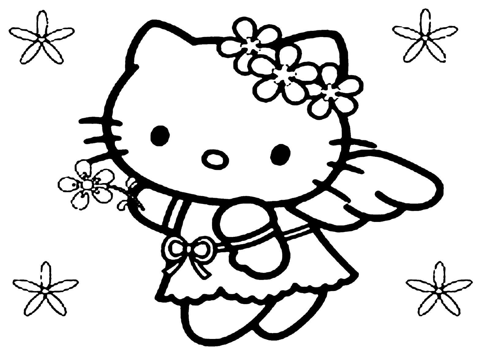 Tranh màu hello kitty đẹp