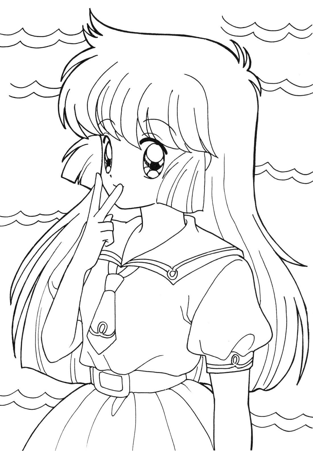 Tranh tô màu anime thủy thủ mặt trăng đẹp nhất