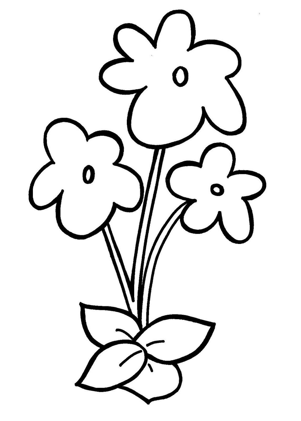Tranh tô màu bông hoa cho bé đẹp