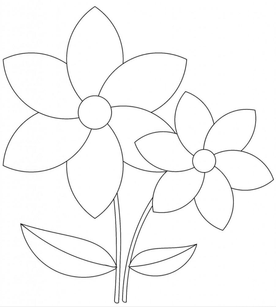 Tranh tô màu bông hoa đẹp nhất