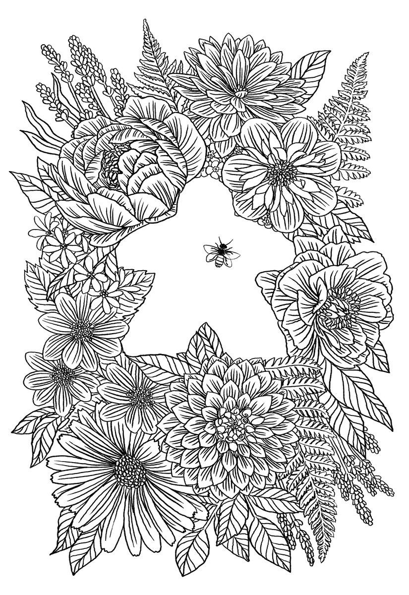 Tranh tô màu các loài hoa cho bé tập tô đẹp nhất