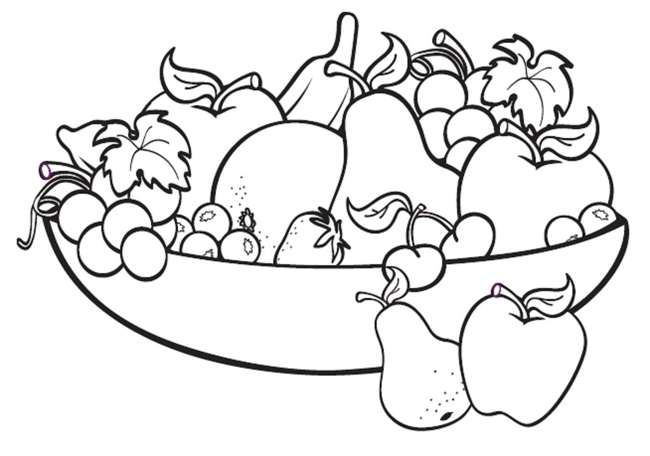 Tranh tô màu các loại trái cây