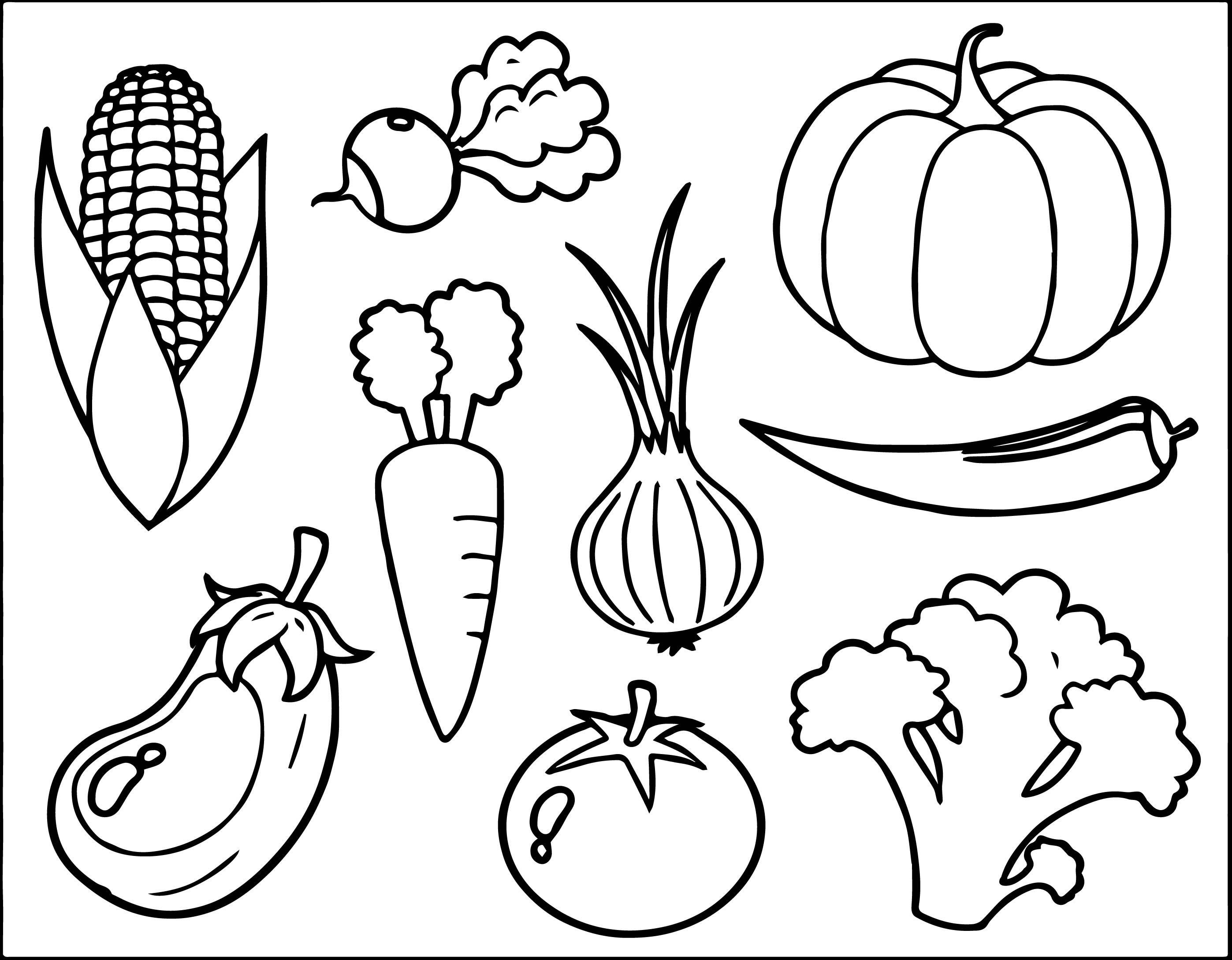 Tranh tô màu cho bé hình các loại hoa quả