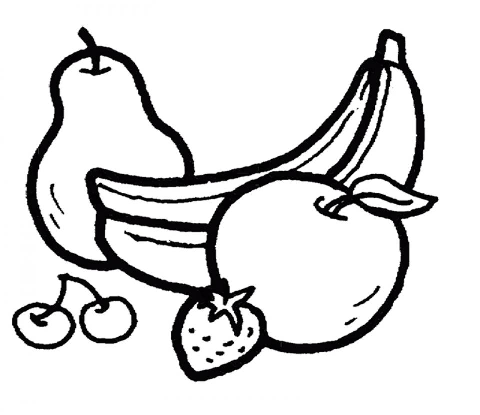 Tranh tô màu đẹp nhất hình các loại trái cây